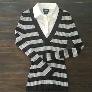 Sweater with White button up size L Juniors